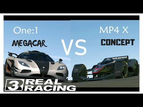Real Racing 3 ONE:1 Vs MP4 X