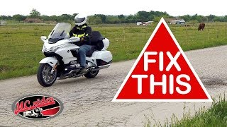 Find motorcycle comfort with the rider triangle