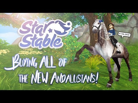 Buying ALL of the NEW Andalusians! | Star Stable Updates