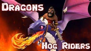 Масс-дуэль тх8: хоги VS драконы с Alex Flash в Clash of Clans