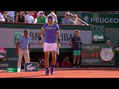 Rafael Nadal v Dominic Thiem Highlights - Men's Semi-Final 2017 | Roland-Garros