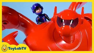 Big Hero 6 Toys with Deluxe Flying Baymax & Hiro Hamada Action Figure Toy Opening