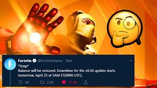 Fortnite x Avengers Update TOMORROW! What To Expect - Skins? New LTM?