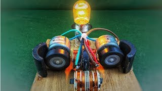 How to make free energy electric generator using dc motor - DIY science experiment project 2018