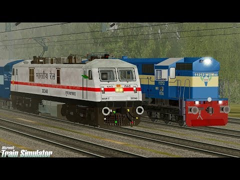 Surat Nagpur Weekly Special Express MSTS Open Rails Full Journey Part-1 || Pardesi Gamer ||