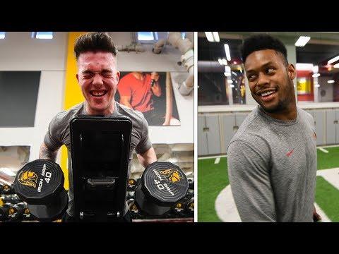 NFL WORKOUT Challenge with FaZe JuJu, Adapt, Temperrr