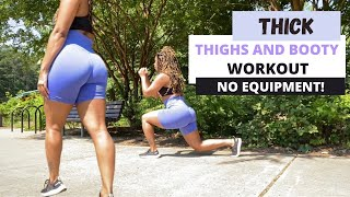 GET THICK WORKOUT aт home   get THICKER THIGHS workout   leg booty workout at home no equipment
