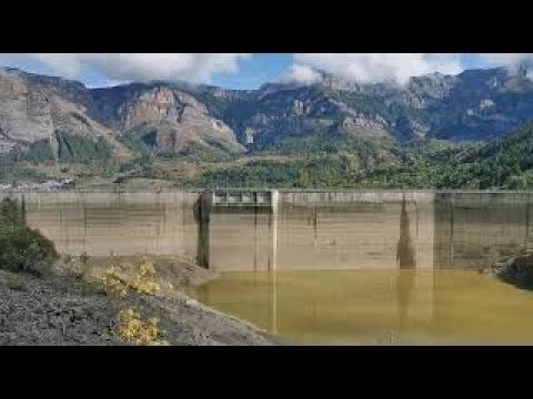 svuotamento della diga della piastra a entracque