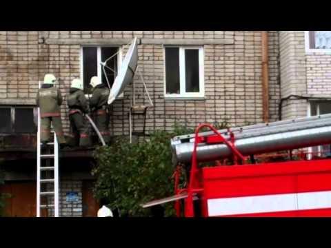 Пожар в центре Горно-Алтайска