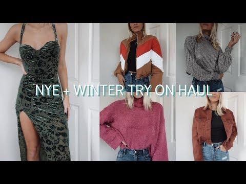 NYE + WINTER TRY ON HAUL   Ft. Lulus, Revolve & UO!