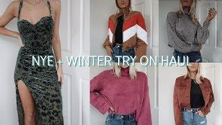 NYE + WINTER TRY ON HAUL | ft. Lulus, Revolve & UO!