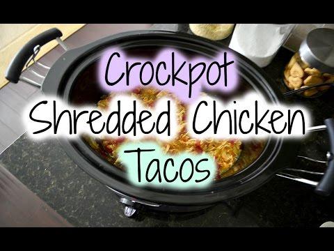 Crockpot Shredded Chicken Tacos | CHEAP & EASY DINNER RECIPE