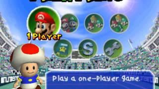 Mario Tennis - Main Menu Theme - User video