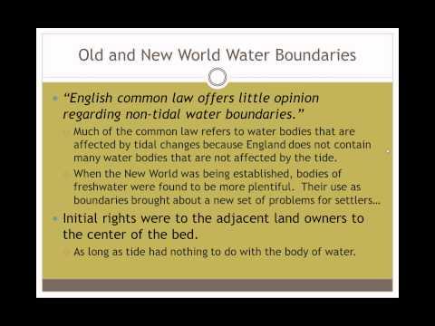 Riparian and Littoral Boundaries