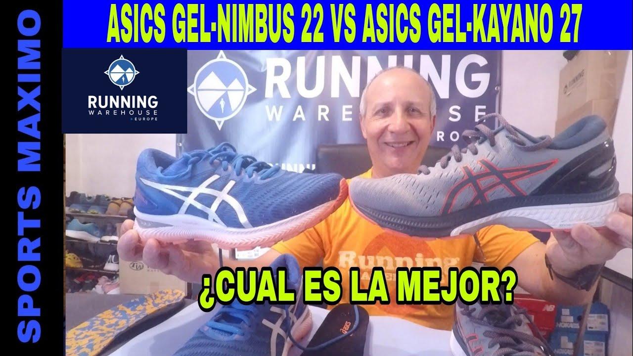 Generosidad Criatura Bermad  RUNNING.ASICS GEL-NIMBUS 22 VS ASICS GEL-KAYANO 27.¿CUAL ES LA MEJOR? -  YouTube