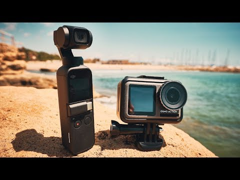 DJI OSMO ACTION VS OSMO POCKET COMPARISON
