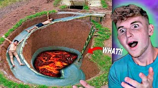 Kid Builds MASSIVE UNDERGROUND WATER SLIDE In Backyard..