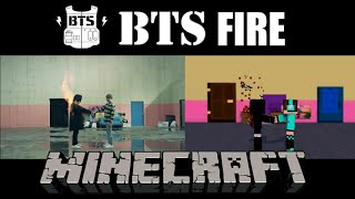 [MV COVER] BTS-Fire Comparison with Minecraft Animation