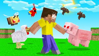 Minecraft But ALL MOBS Are EVIL! (rage mod)
