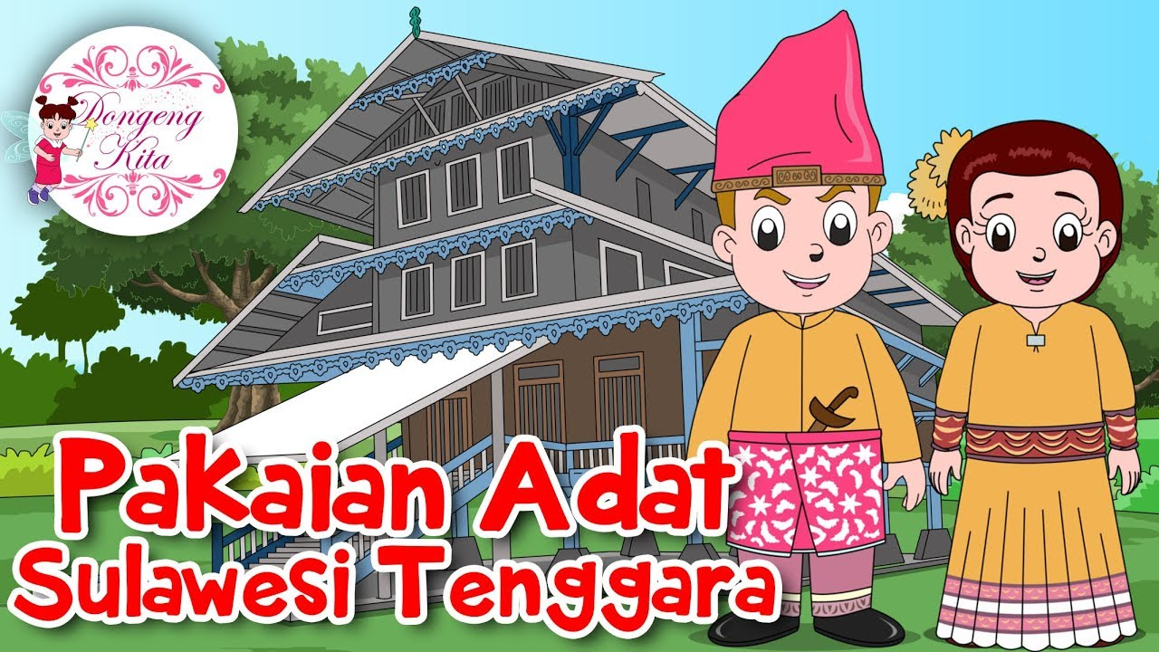 Gambar Kartun Pakaian Adat Kalimantan Timur