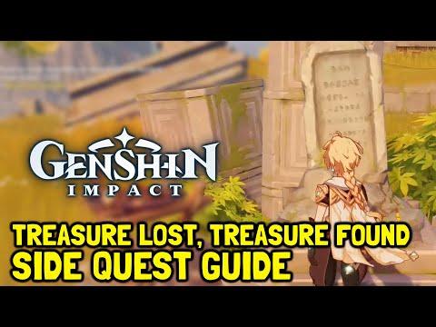 Genshin Impact Treasure Lost, Treasure Found Side Quest Guide