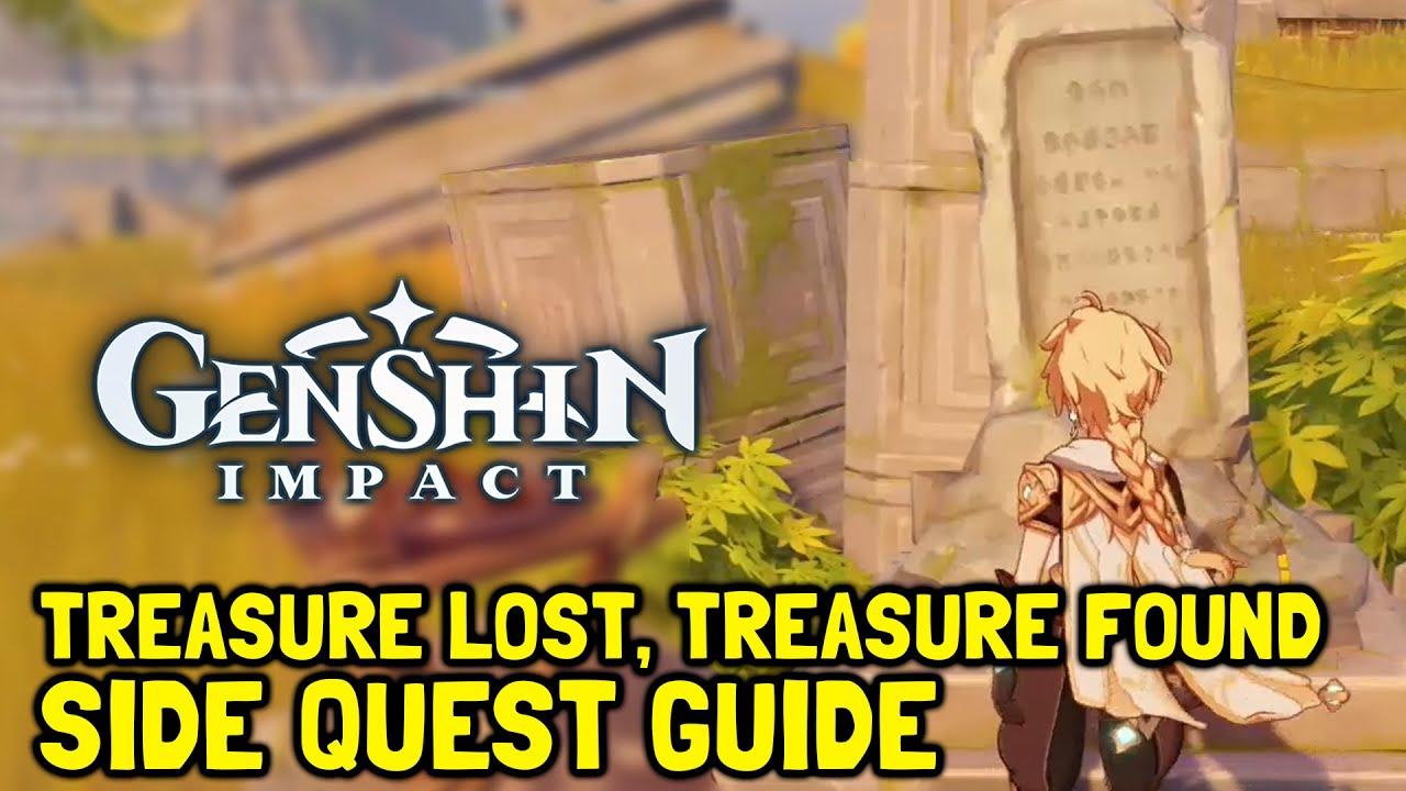 Genshin Impact Treasure Lost Treasure Found Side Quest Guide Youtube