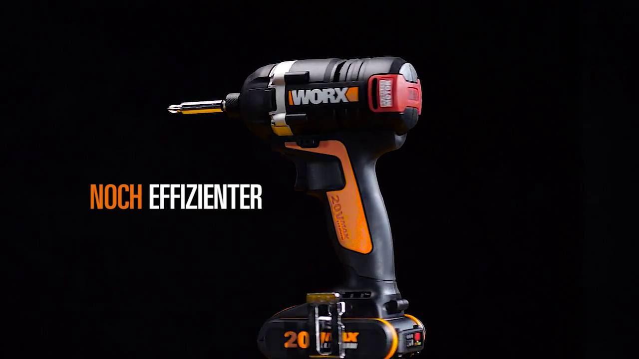 Worx wx292 20v max lithium ion akku schlagschrauber for Trapano avvitatore parkside 20v recensioni