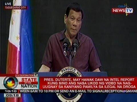 SONA: PRRD, may hawak daw na intel report kung sino ang nasa likod ng 'totoong narco list' video