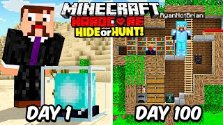 I Survived 100 Days Hunting a Secret Minecraft Base...