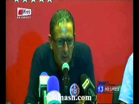 senegal   tunisie conf presse entraineur de tunisie