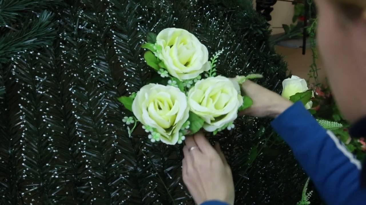 Траурный венок Красно-Белый. Цветы Новая голландия - YouTube