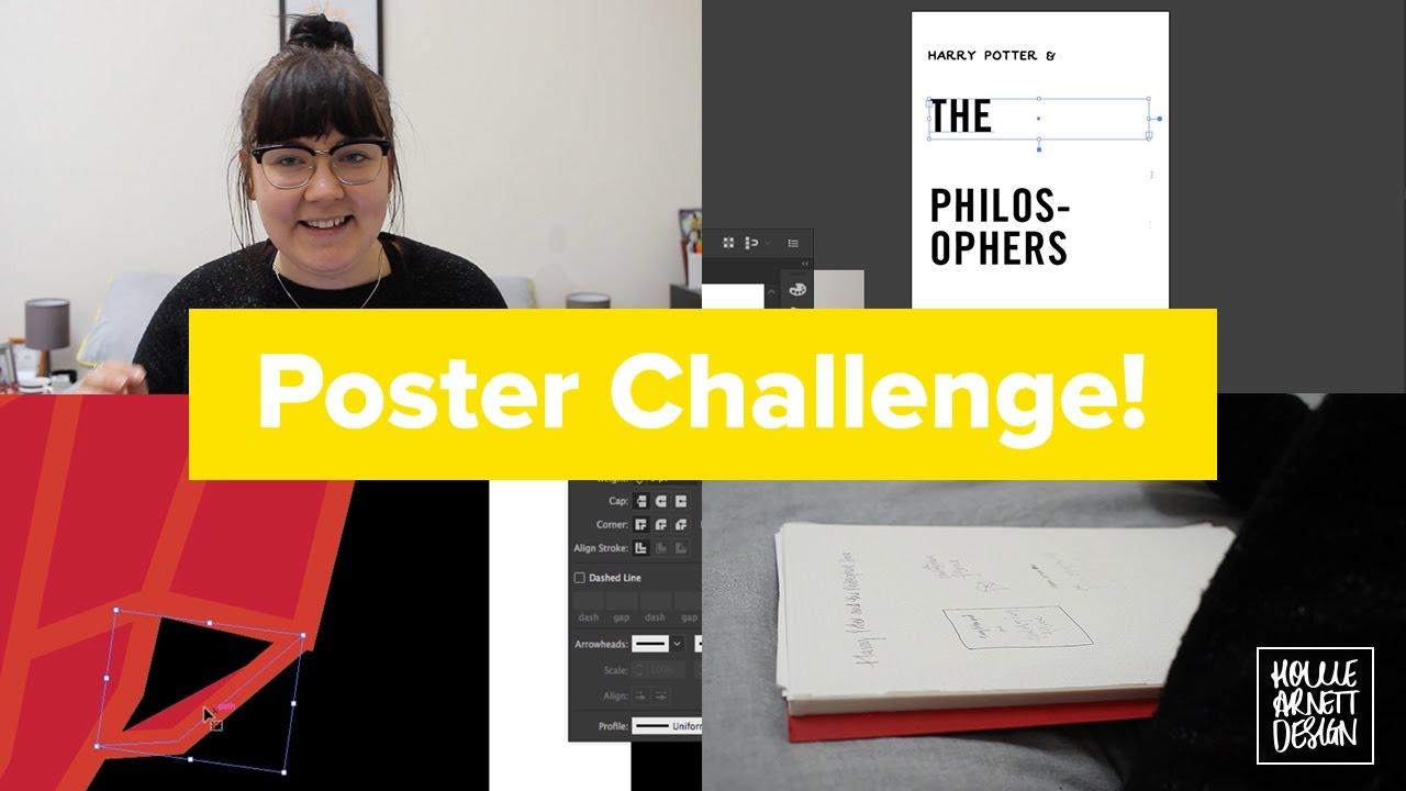 Poster design challenge - 15 Minute Poster Design Challenge With Justborja Hollie Arnett Design