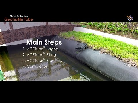 """Geosynthetic Application   How """"Geotextile Tube in Shore Protection"""" is done?"""