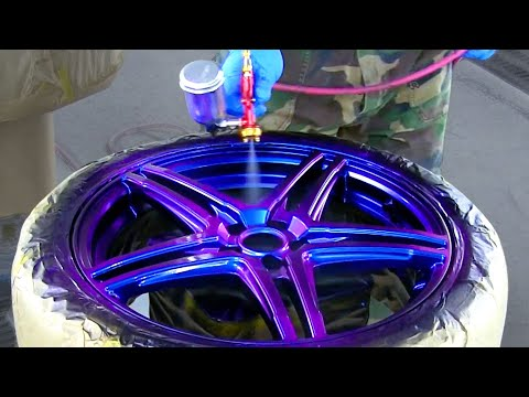 Custom painting method / Car wheel changes color / It 's Another dimension idea / カスタムペイント