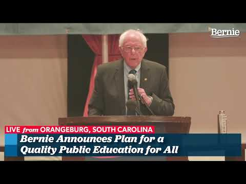 Bernie Unveils His K-12 Education Plan