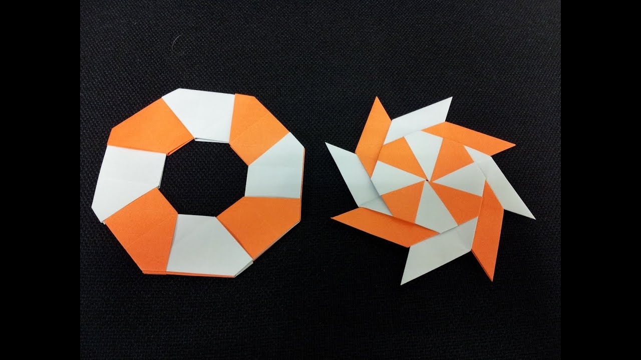 How To Make A Origami Transforming Ninja Star Step By Step Easy