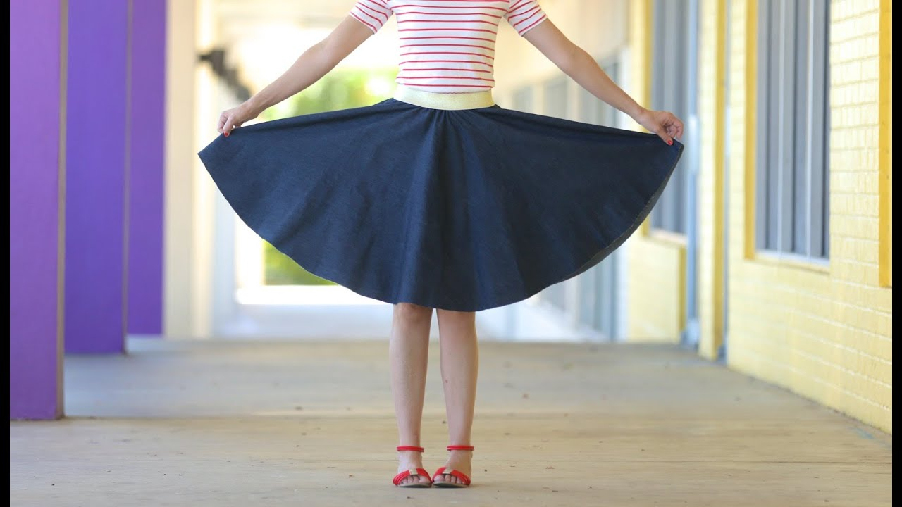 3ec62970d6 How to make a Circle Skirt - for any age + any size - YouTube