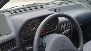 [올드카]현대 엑셀 운전석 실내