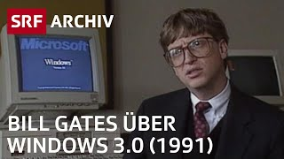Windows 3.0 - Interview mit Bill Gates (1991) | SRF Archiv