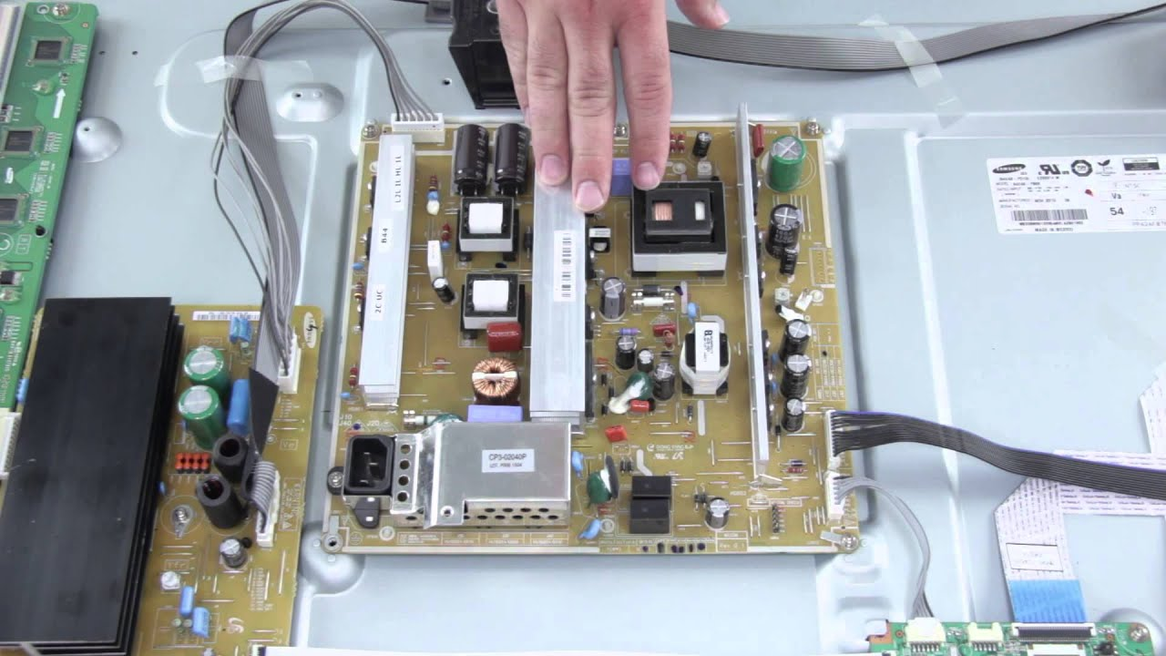 plasma tv repair no image no picture on tv screen how to replace power supply board [ 1280 x 720 Pixel ]