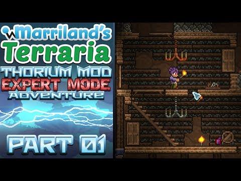 Terraria Thorium Mod, Part 01: A Total Overload! [Expert Mode Modded Terraria]