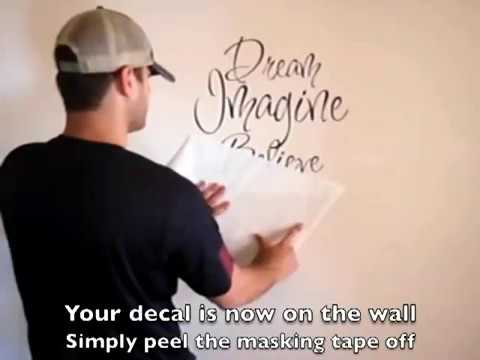 Wall Quote Application By Trendy Wall Designs