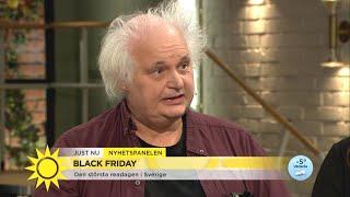 """Greider emot att anamma Black Friday: """"Vi är den 51:a staten i USA""""  - Nyhetsmorgon (TV4)"""