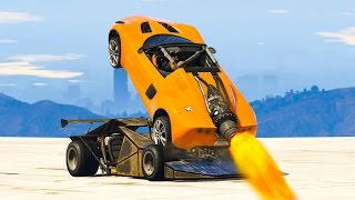 RAMP CAR vs. ROCKET CAR! (GTA 5 Mods)