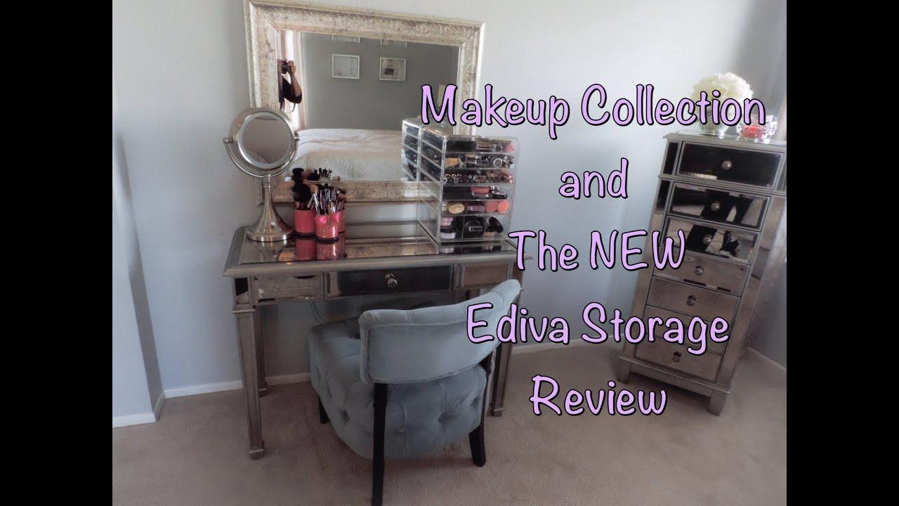 Makeup Vanity Organizer Diy: Makeup Collection & New Ediva Organizer Review (hayworth