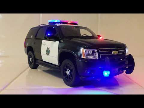 Mountain View Police Department MVPD Chevrolet Tahoe SUV 1/24 Diecast Lights/Siren Mountain View, CA