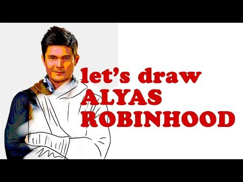 let's draw alyas robinhood