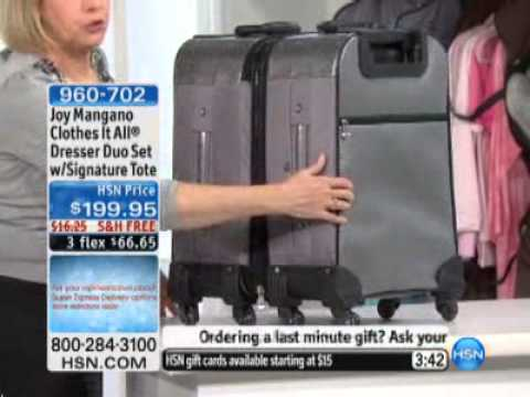 Joy Mangano Clothes It All Dresser Duo Set with_Signature_Tote ...