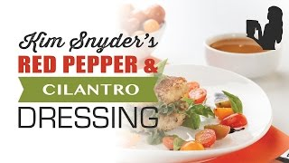 Kimberly Snyder Oil Free Red Pepper Cilantro Dressing with a Blendtec or Vitamix blender