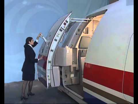 Airbus Normal Door Opening And Closing Operation Outside